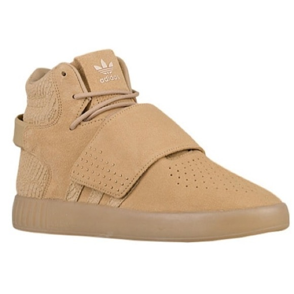 Adidas zapatos tubular tan poshmark invasor hightops